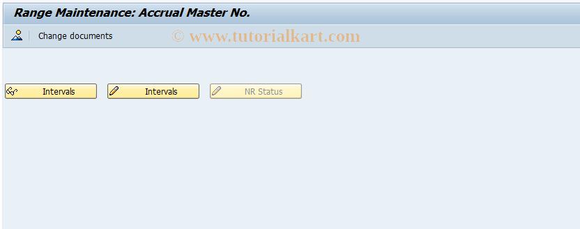SAP TCode ACCN - Range Maintenance: Accrual Master Number