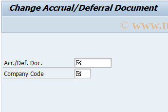 SAP TCode ACCR02 - Change Accrual/Deferral Document