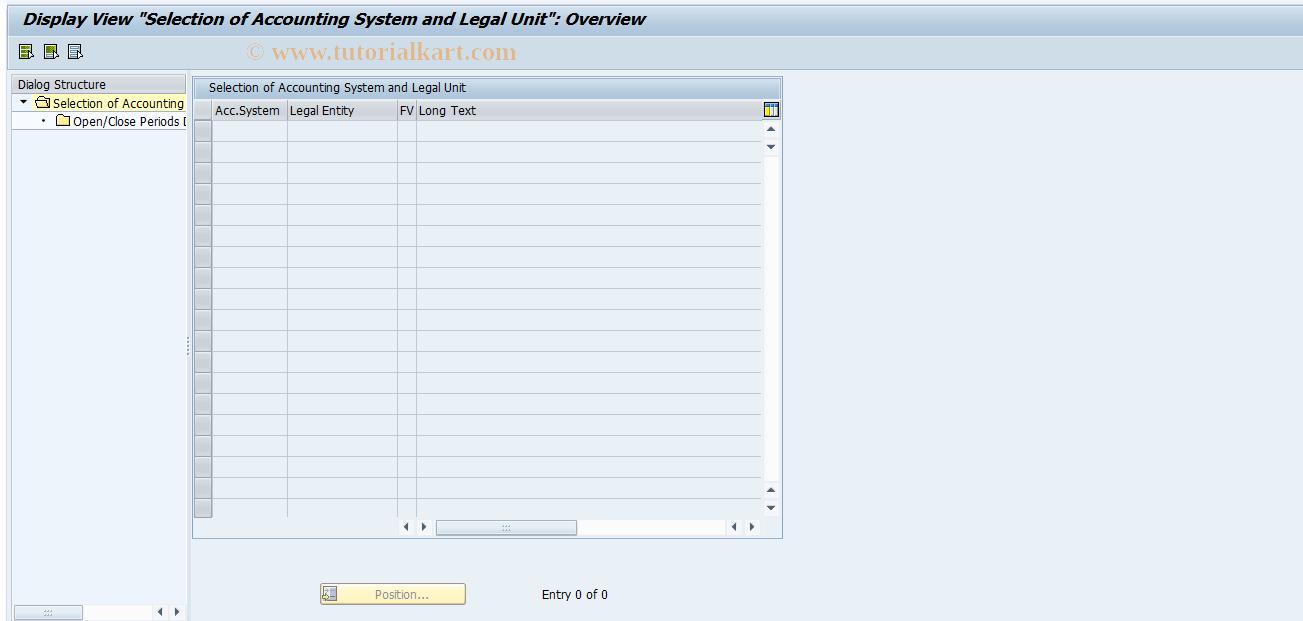 SAP TCode ACC_PERIOD - Open and Close Periods