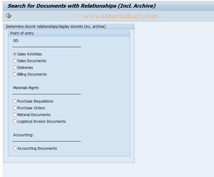 ALO1 SAP Tcode : Determine ASH/DOREX Relationships Transaction Code