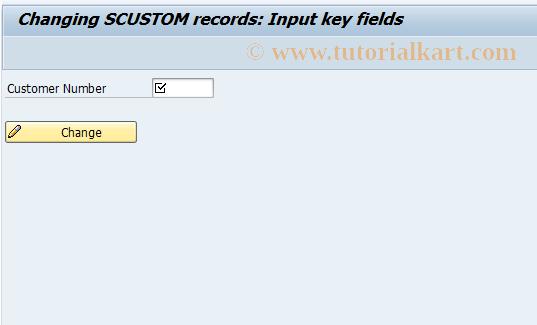 SAP TCode BC_GLOBAL_SCUST_EDIT - Change SCUSTOM records