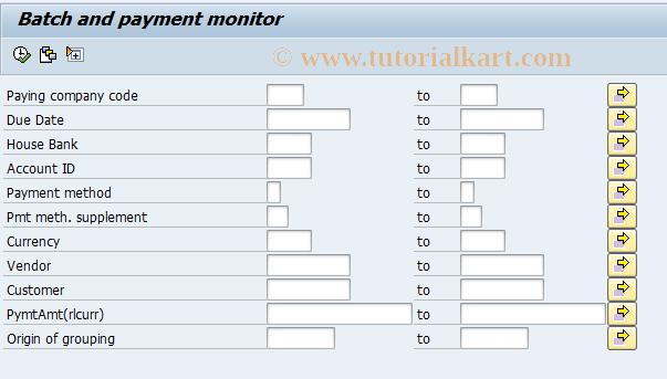 SAP TCode BNK_MONI - Batch and payment monitor