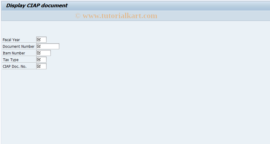 SAP TCode CI03 - Display CIAP Document