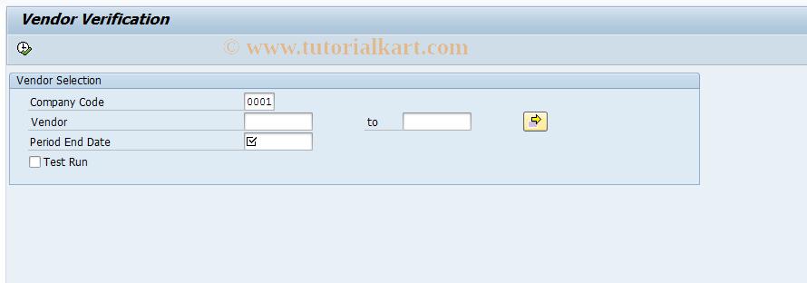 SAP TCode CISV - CIS Vendor Verification Process