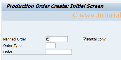 CO48 SAP Tcode : Convert planned order to production order