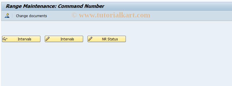 SAP TCode COMMAND_NR - Number Range Maintenance: COMMAND_NR
