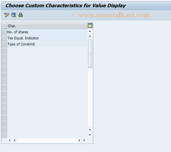 SAP TCode CX0AD - Attrib for CU: Display Characteristic Values