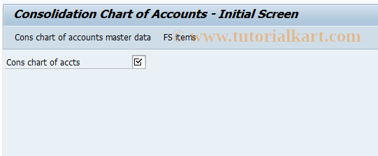 SAP TCode CX11 - Change cons charts of accounts