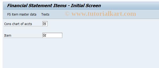 SAP TCode CX14 - Change FS items