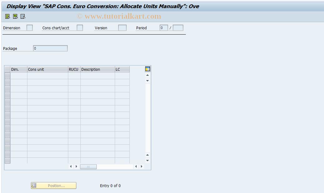 SAP TCode CXEU2 - ECCS EURO: Maintain Euro Units