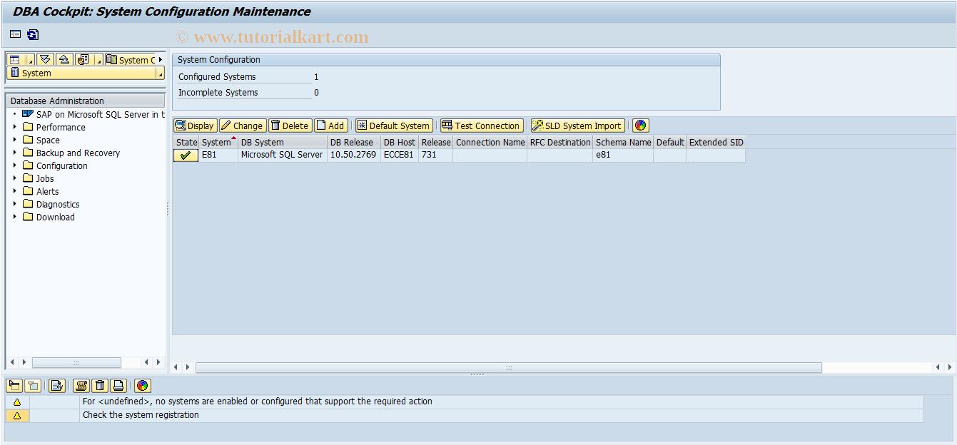 DB2C SAP Tcode : DB2 z/OS: Catalog Browser Transaction Code