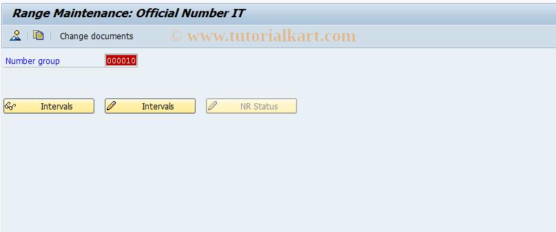 SAP TCode ERS_IT - Number range maintenance: ERS_IT