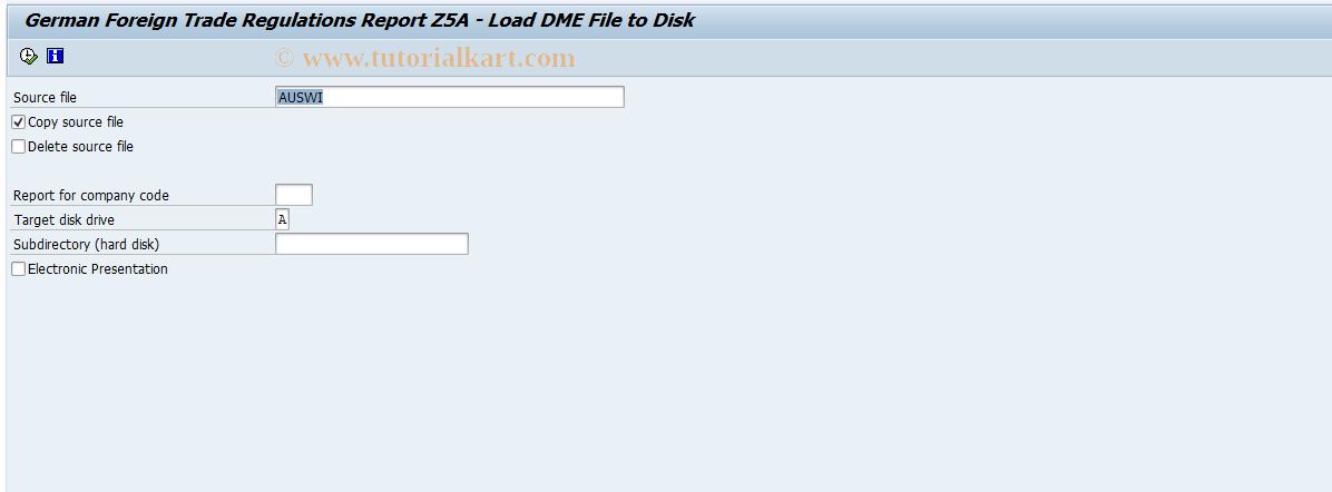 SAP TCode F.0A - G/L: FTR Report on Disk
