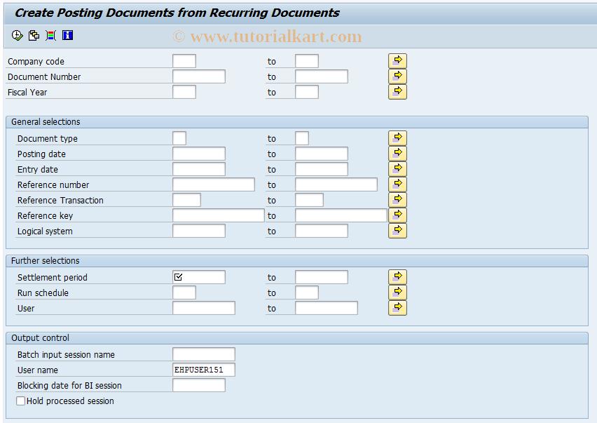 SAP TCode F.14 - ABAP/4 Report: Recurring Entries