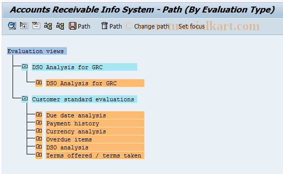 SAP TCode F.30 - A/R: Evaluate Info System