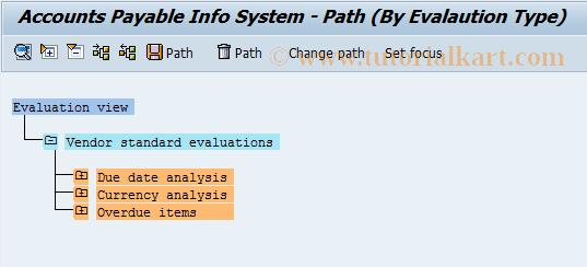 SAP TCode F.46 - A/P: Evaluate Info System