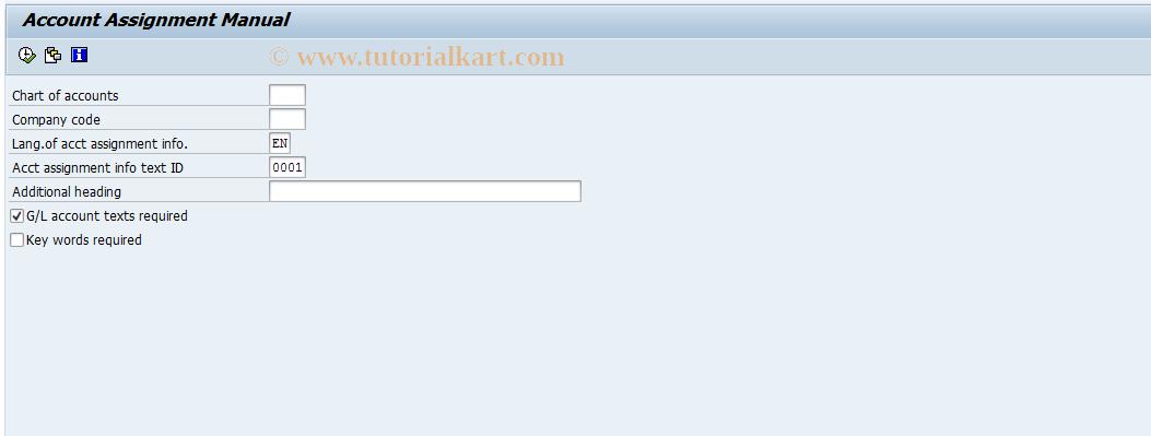 SAP TCode F.53 - G/L: Account Assignment Manual