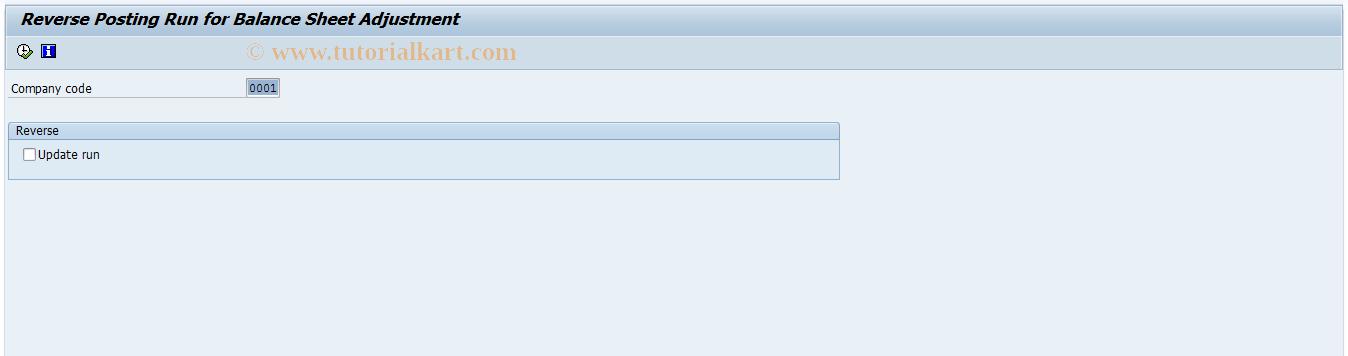 SAP TCode F.5G - G/L: Subseq.Adjustment(BA/PC) Sp.ErA