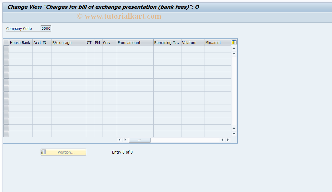 SAP TCode F.79 - C FI Maintain Table T045G