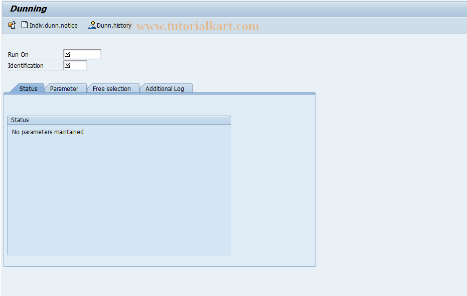SAP TCode F150 - Dunning Run