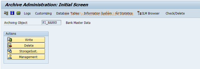 SAP TCode F61A - Bank archiving