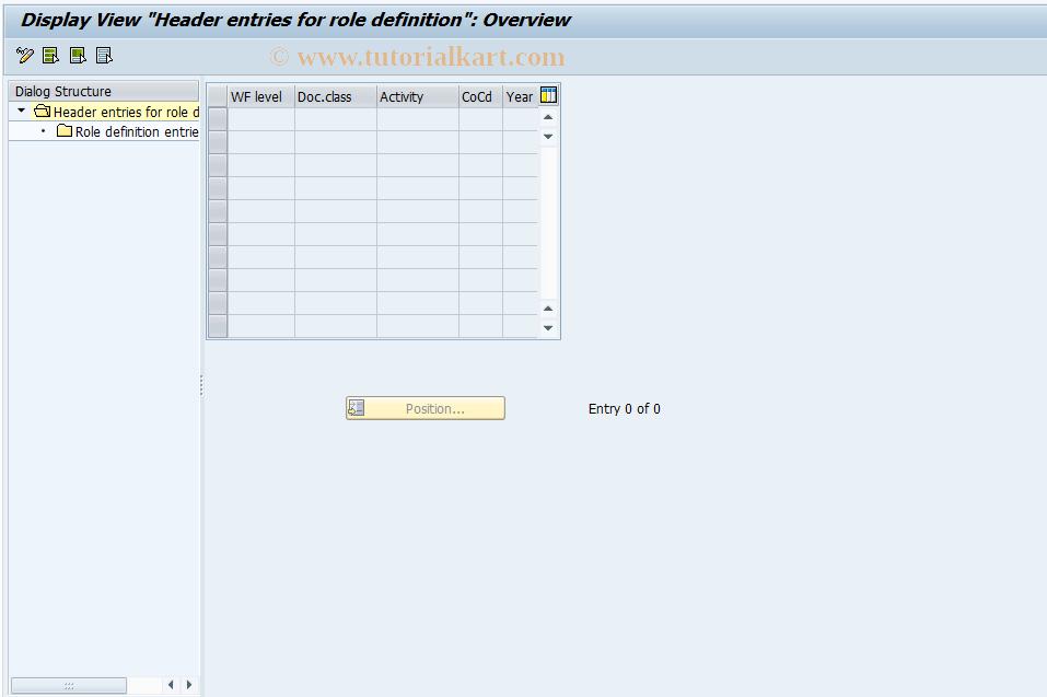 SAP TCode F8+0 - Display FI Main Role Definition