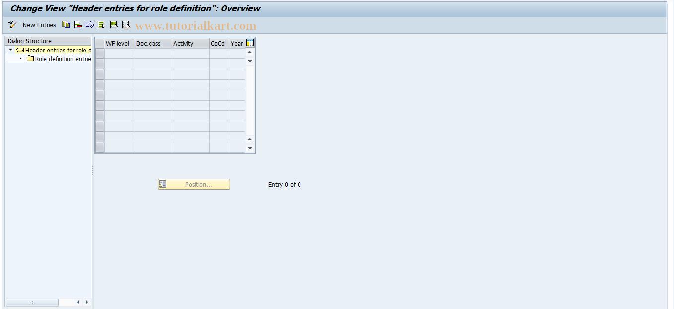 SAP TCode F8+1 - Maintain FI Main Role Definition