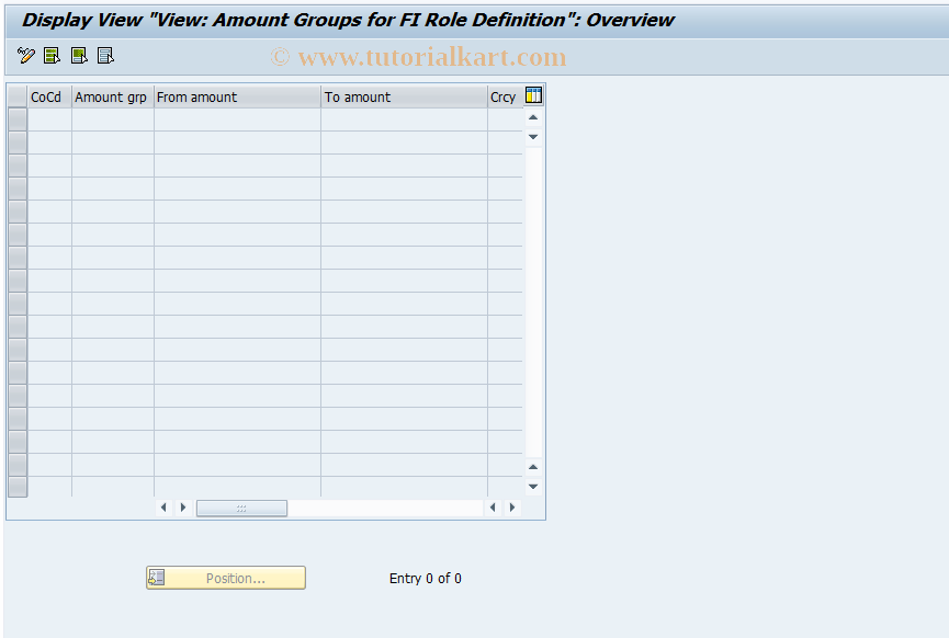 SAP TCode F8+2 - Display FI Amount Groups