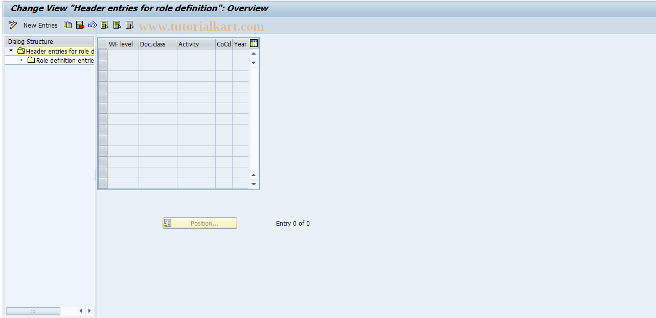 SAP TCode F8+5 - Maintain General Role Definition