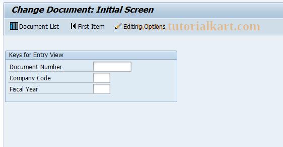 SAP TCode FB02 - Change Document