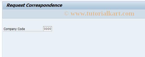 SAP TCode FB12 - Correspondence Request