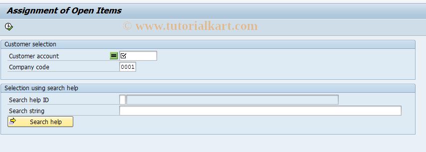 SAP TCode FB15 - Assign Items