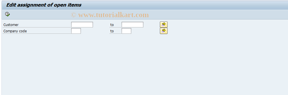 SAP TCode FB17 - Open Item Assignmnt: Check from List