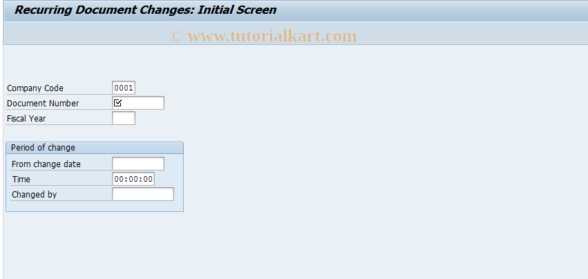 SAP TCode FBD4 - Display Recurring Entry Changes