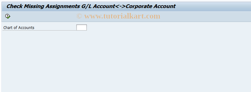 SAP TCode FBIC001 - Check Assignment of Accounts