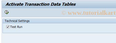 SAP TCode FBIC004 - Activate Transaction Data Tables