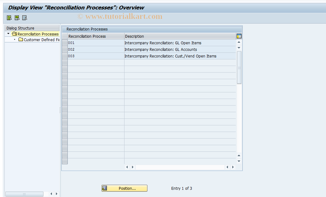 SAP TCode FBIC006 - Create Additional Fields