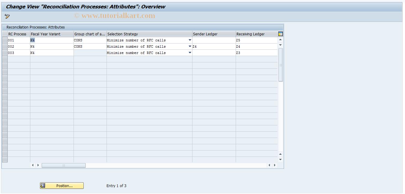 SAP TCode FBIC010 - Reconciliation Process Attributes