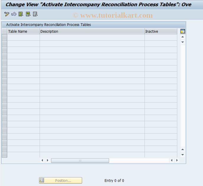 SAP TCode FBIC030 - Activate Process Tables