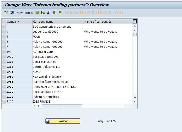 SAP TCode FBIC035 - Define Companies