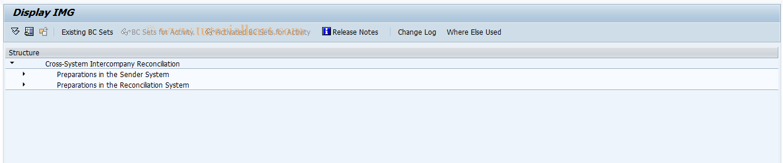 SAP TCode FBICIMG3 - Cross-System IC Reconciliation