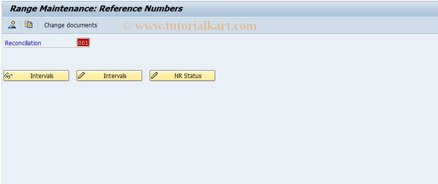 SAP TCode FBICRC_SNRO - Number Range Maintnce: FBICRC_REF