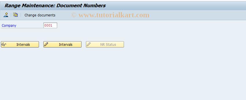SAP TCode FBIC_SNRO_DOC - Number range maintenance: FBICRC_DOC