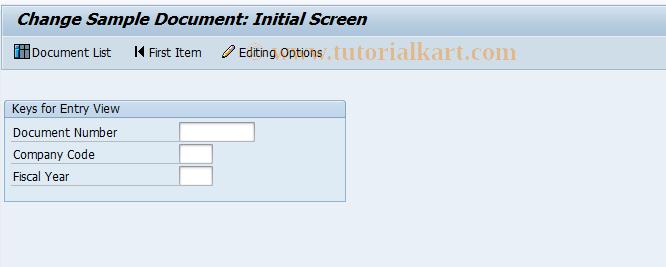 SAP TCode FBM2 - Change Sample Document