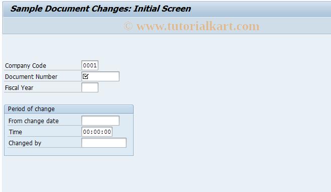 SAP TCode FBM4 - Display Sample Document Changes