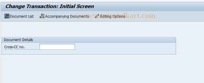 SAP TCode FBU2 - Change Intercompany Document