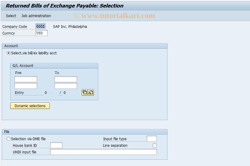 SAP TCode FBWD - Returned Bills of Exchange Payable