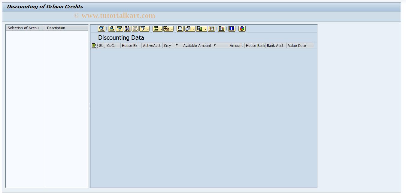 SAP TCode FBWO - Discounting of Orbian Credits