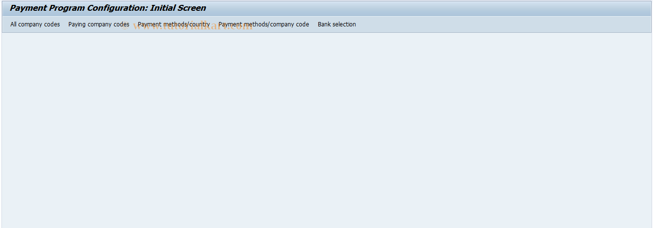 SAP TCode FBZA_OLD - Display Pmnt Program Configuration