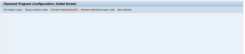 SAP TCode FBZP_OLD - Maintain Pmnt Program Configuration
